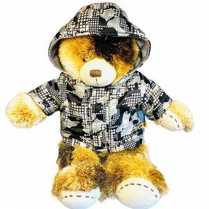 Build A Bear Camo Jacket Plush Stuffed Animal